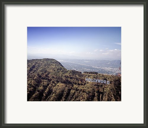 Hollywood Sign, Built Ca. 1923 By Mack Framed Print By Everett