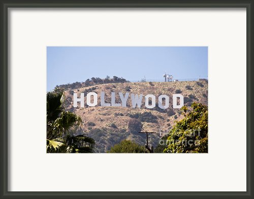 Hollywood Sign Photo Framed Print By Paul Velgos