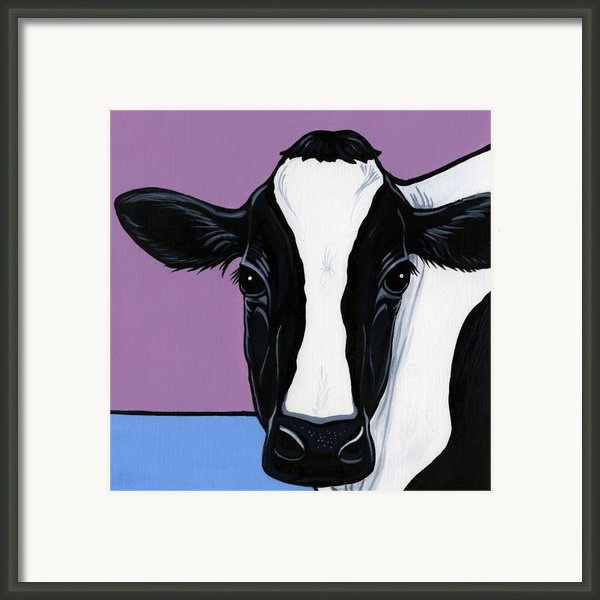 Holstein Framed Print By Leanne Wilkes