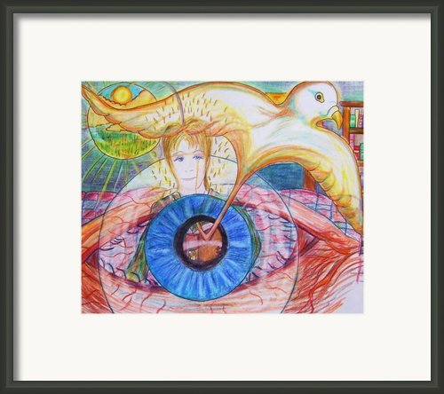Holy Ghost Shining Eyes Framed Print By Richard  Hubal