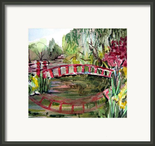 Homage To Monet Framed Print By Mindy Newman