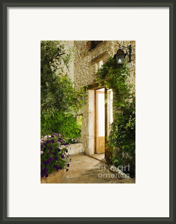 Home Entrance And Courtyard Framed Print By Andersen Ross