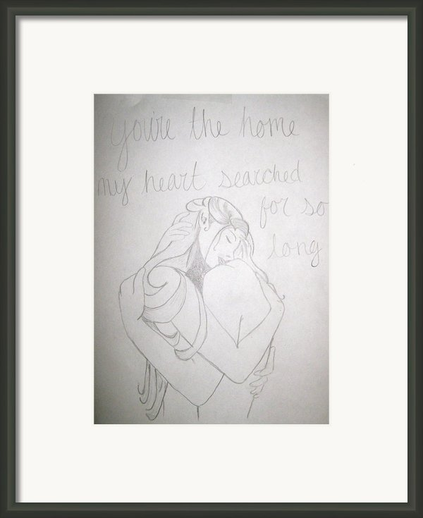 Home For My Heart Framed Print By Rebecca Wood