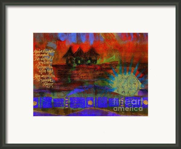 Home Is Where We Live Framed Print By Angela L Walker