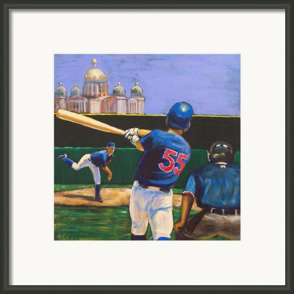 Home Run Framed Print By Buffalo Bonker