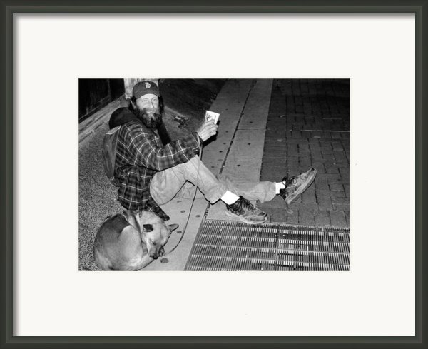 Homeless With Faithful Companion Framed Print By Kristin Elmquist