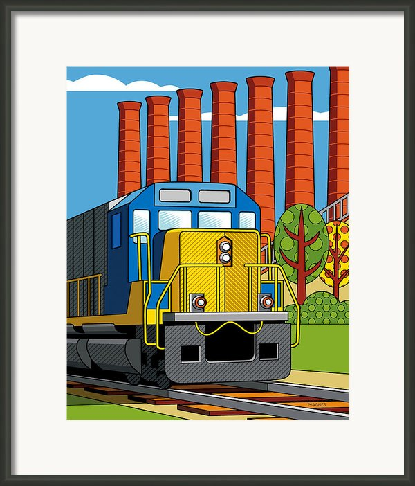 Homestead Stacks Framed Print By Ron Magnes