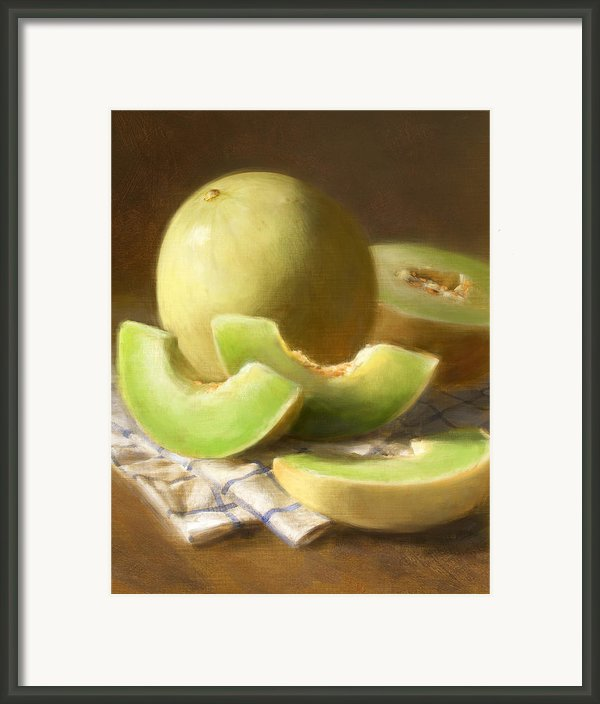 Honeydew Melons Framed Print By Robert Papp