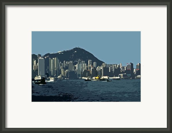 Hong Kong Island ... Framed Print By Juergen Weiss