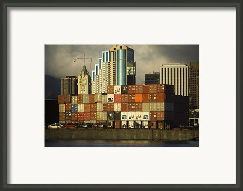 Honolulu Harbor Framed Print By Dana Edmunds - Printscapes
