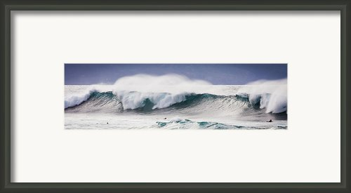 Hookipa Maui Big Wave Framed Print By Denis Dore