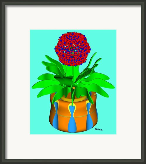 Hopi Pot Flower Framed Print By Buddy Paul