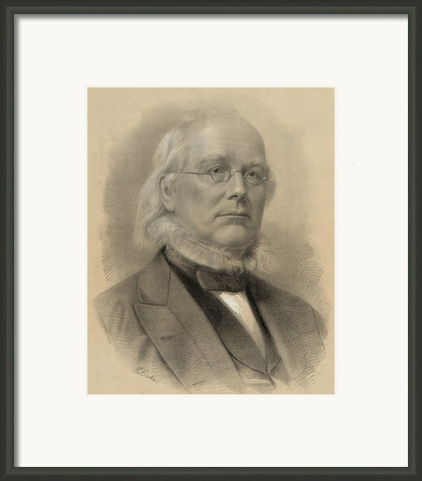 Horace Greeley 1811-1872, Ca. 1872 Framed Print By Everett