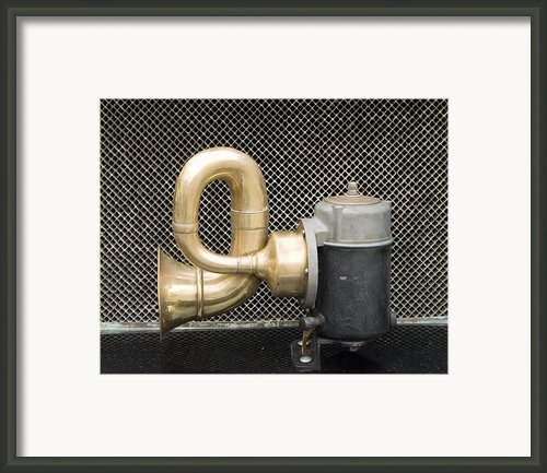Horn Of Old Car Framed Print By Odon Czintos