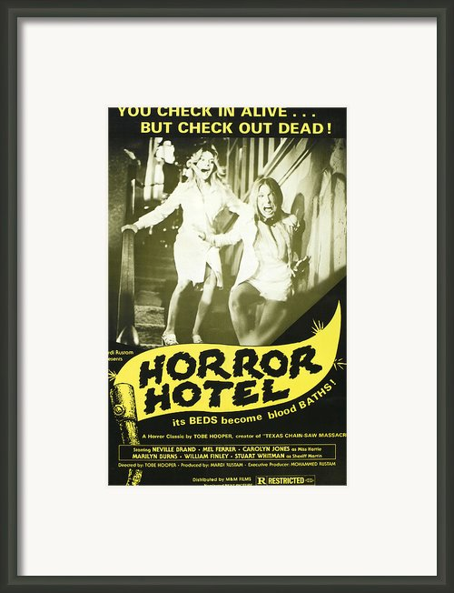Horror Hotel, Aka City Of The Dead Framed Print By Everett