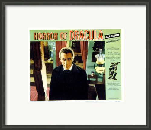 Horror Of Dracula, Christopher Lee, 1958 Framed Print By Everett