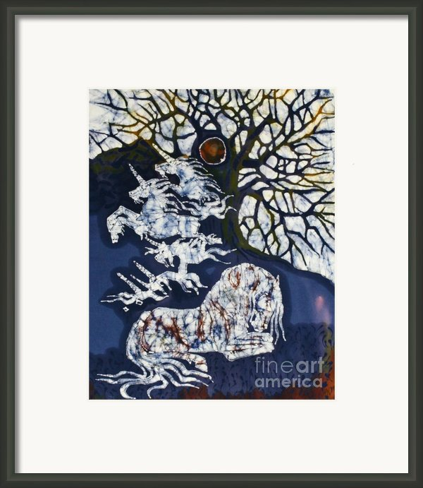 Horse Dreaming Below Trees Framed Print By Carol  Law Conklin