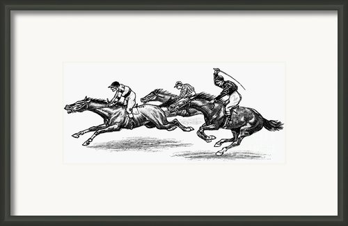 Horse Racing, 1900 Framed Print By Granger