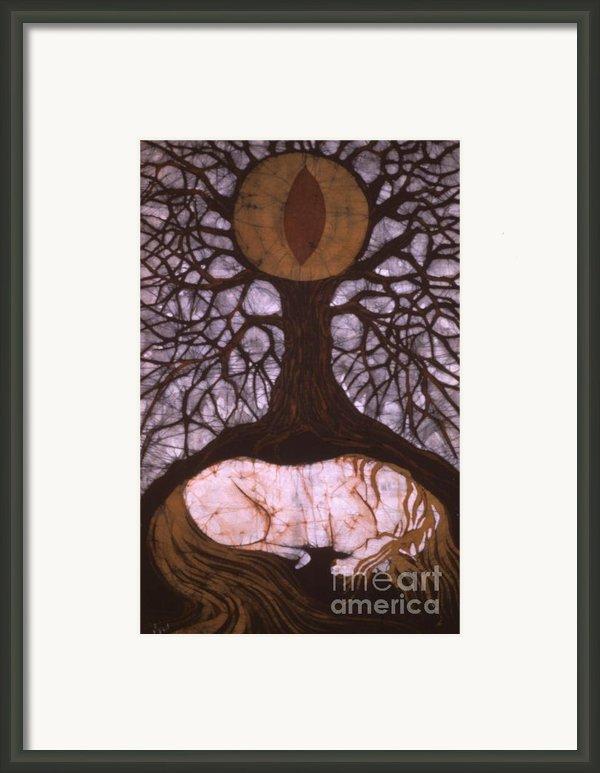 Horse Sleeps Below Tree Of Rebirth Framed Print By Carol  Law Conklin