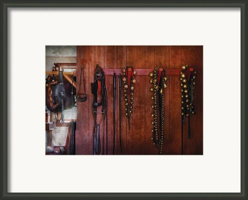 Horse Trainer - Jingle Bells Framed Print By Mike Savad