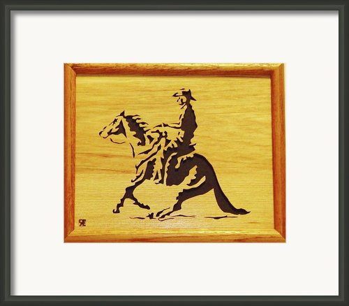 Horse With Rider Framed Print By Russell Ellingsworth