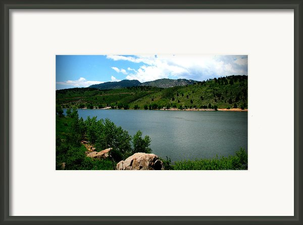 Horsetooth Reservoir Summer Framed Print By Aaron Burrows