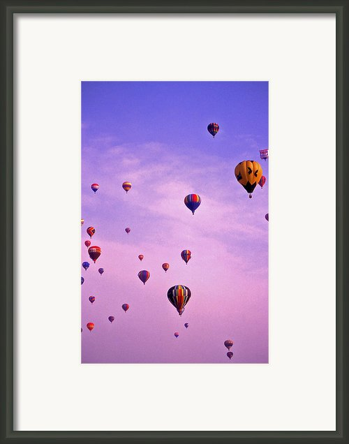 Hot Air Balloon Race - 1 Framed Print By Randy Muir