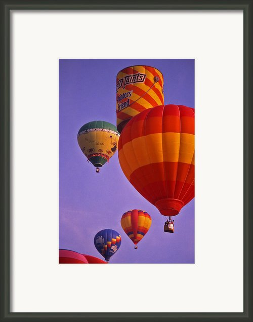 Hot Air Balloon Race - 2 Framed Print By Randy Muir