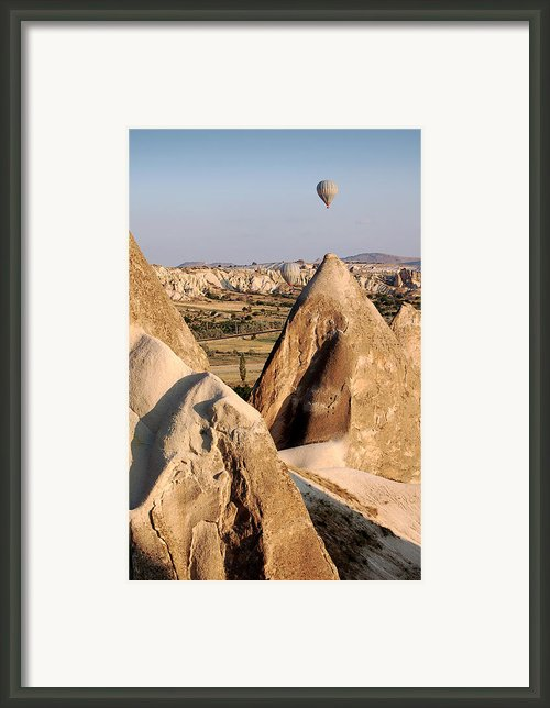 Hot Air Balloons Over Cappadocia Framed Print By Ricardmn Photography