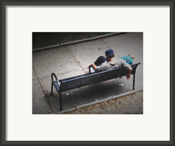Hot And Homeless Framed Print By Brian Wallace
