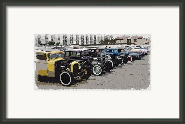 Hot Rod Row Framed Print By Steve Mckinzie