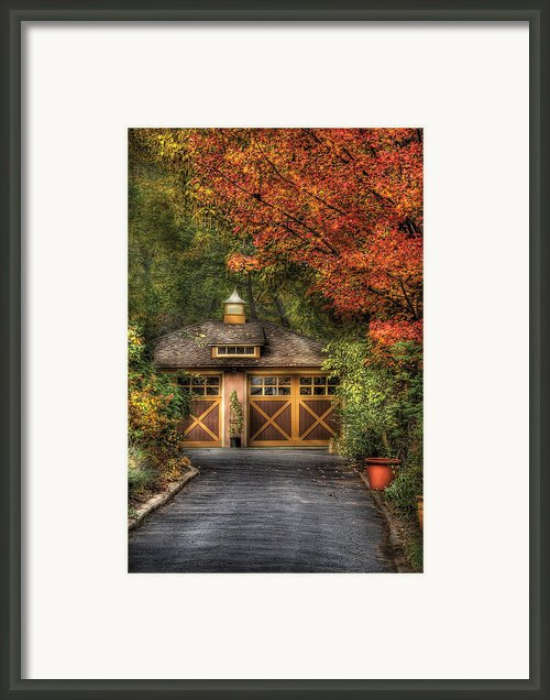 House - Classy Garage Framed Print By Mike Savad