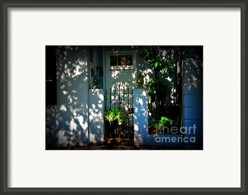 House Door 11 In Charleston Sc  Framed Print By Susanne Van Hulst