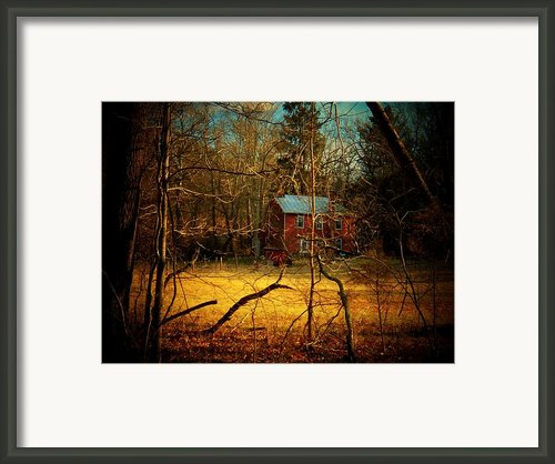 House In The Forest Framed Print By Joyce  Kimble Smith