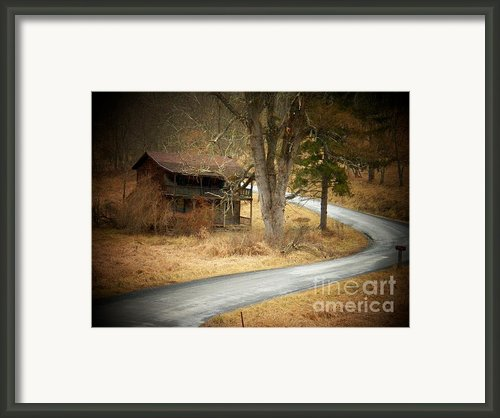 House On A Curve Framed Print By Joyce L Kimble