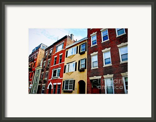 Houses In Boston Framed Print By Elena Elisseeva
