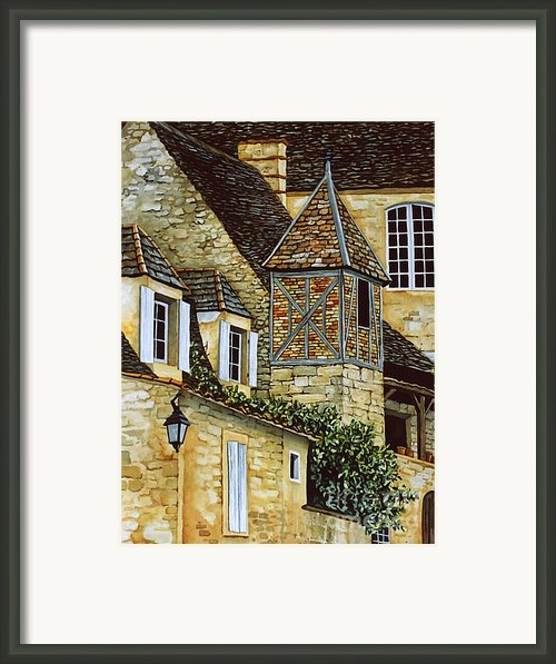 Houses In Sarlat Framed Print By Scott Nelson