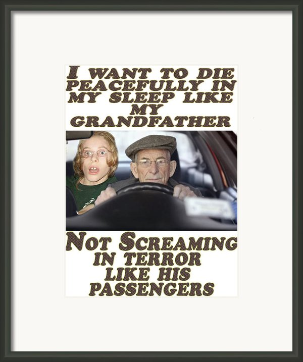 How I Want To Go Framed Print By Darren Stein
