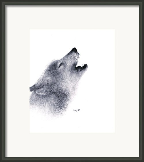 Howl Framed Print By Lucy D