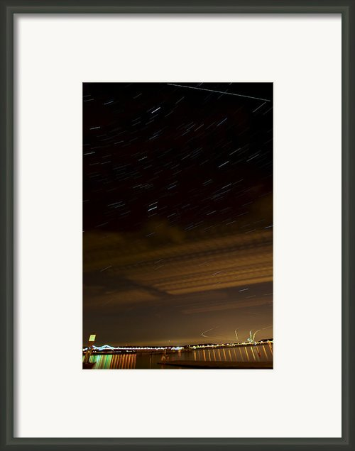 Hudson Star Trails Framed Print By Mike Horvath