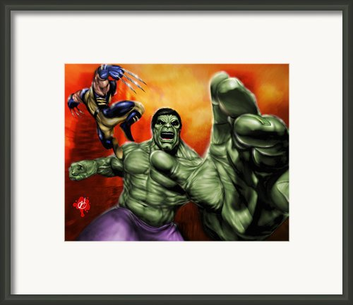 Hulk Framed Print By Pete Tapang