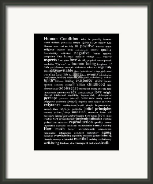Human Condition Framed Print By Gabriela Insuratelu