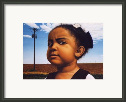 Human-nature Number Thirteen Framed Print By James W Johnson