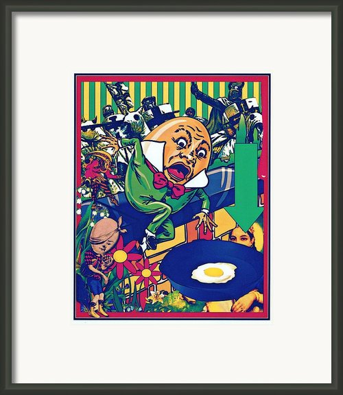 Humpty Got Pushed Framed Print By Janiece Senn