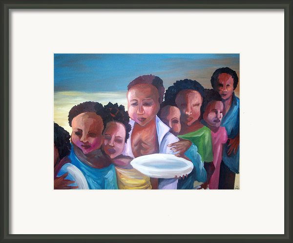 Hunger Framed Print By Janie Mcgee