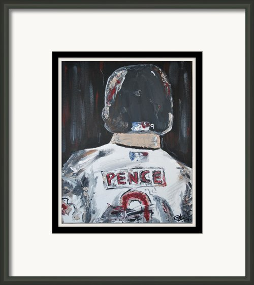 Hunter Pence Framed Print By Leo Artist