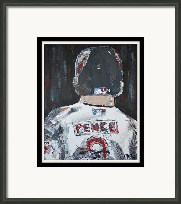 Hunter Pence Framed Print By Leo Artist