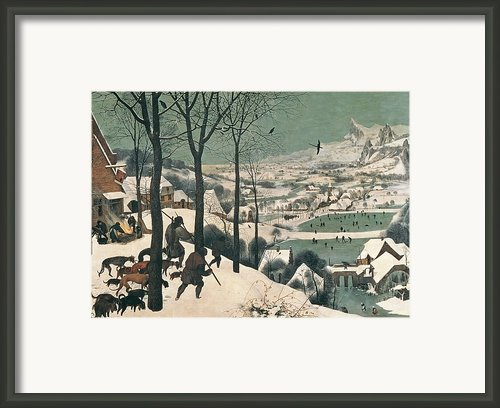 Hunters In The Snow Framed Print By Pieter The Elder Bruegel