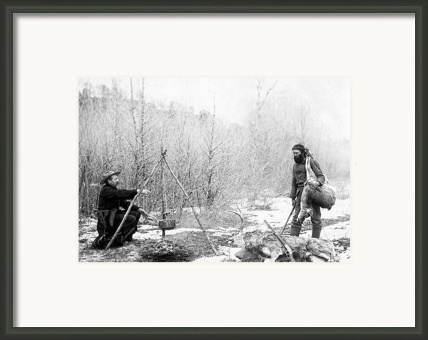 Hunting Camp Winter 1887-88 -- South Dakota Framed Print By Daniel Hagerman