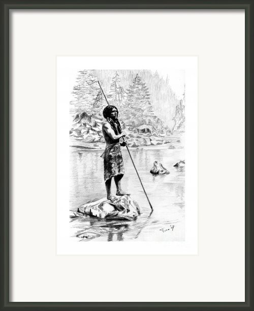 Hupa Fisherman Framed Print By Toon De Zwart